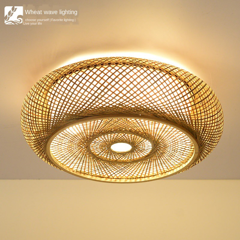 Japanese Ceiling Lamp New Chinese Zen Restaurant Light Tea Room Study Bedroom Simple Modern Bamboo Antique Lights Shopee Malaysia