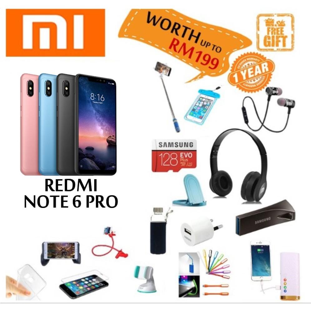 ( Ready Stock ) XiaoMi Redmi Note 6 Pro [3GB RAM + 32GB ROM] / [4GB RAM + 64GB ROM] Original Xiaomi Malaysia Warranty
