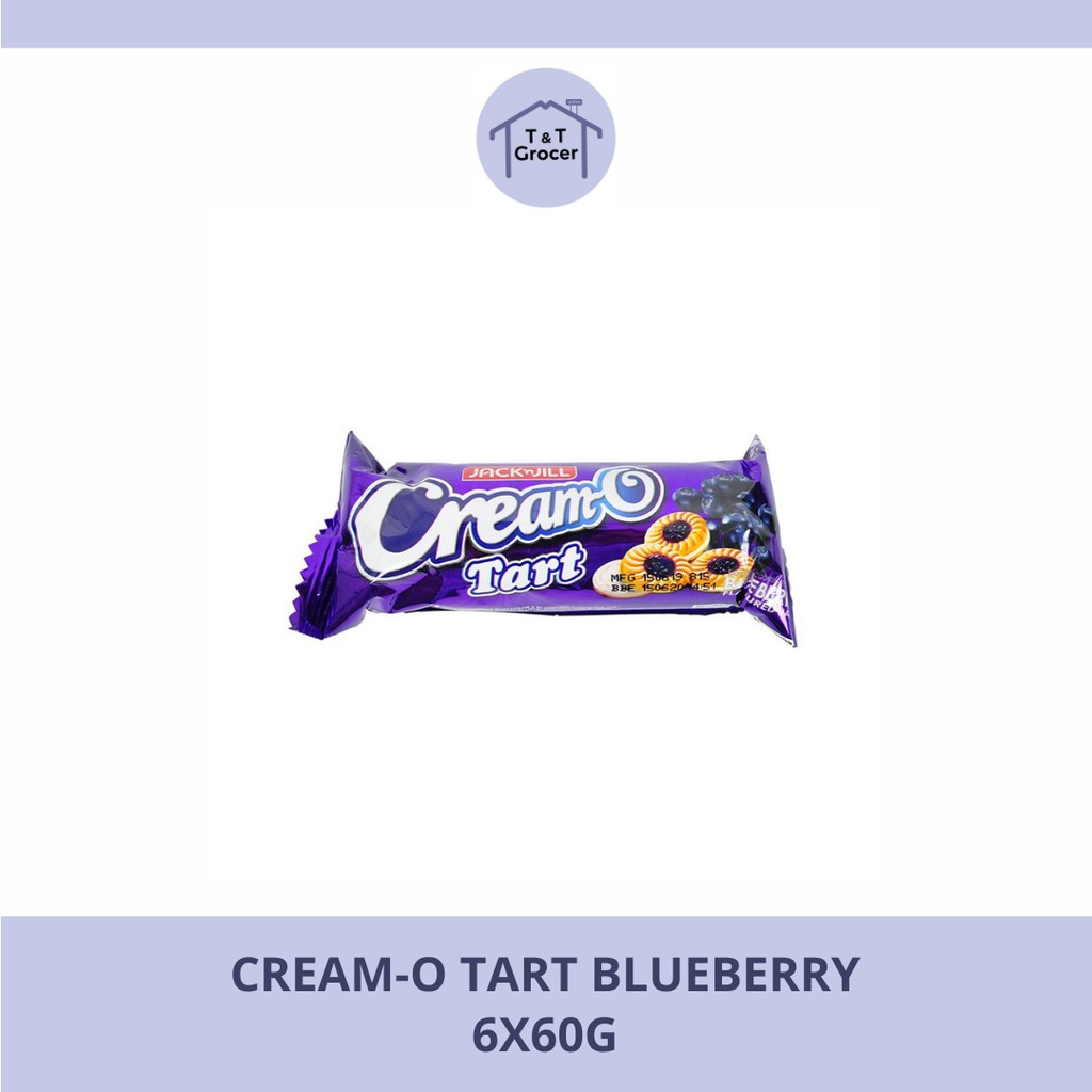 Cream-O Tart Blueberry 120g - 6x60g