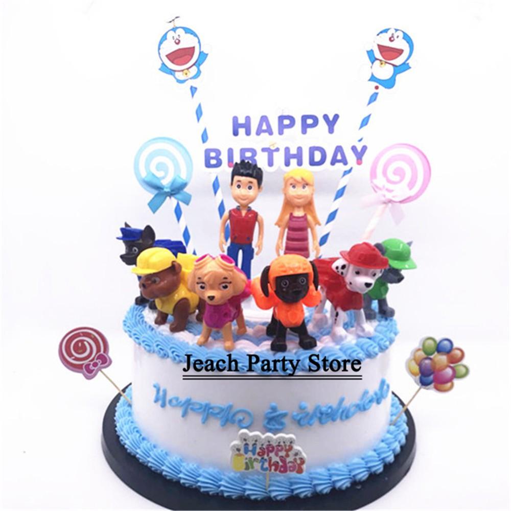 Excellent Birthday Paw Patrol Cake Topper Toys For Baby Boys Children Kids Funny Birthday Cards Online Alyptdamsfinfo