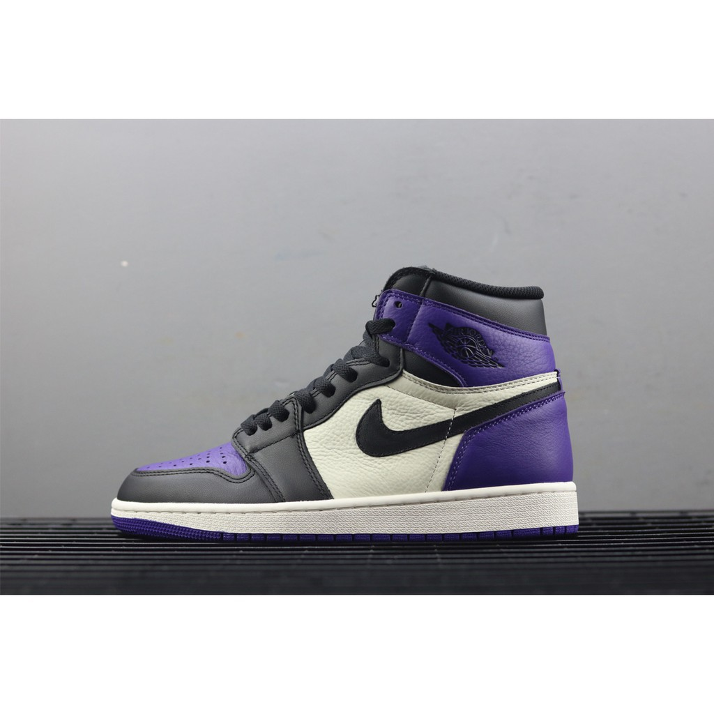 buy popular 7381f 76957 【Free Shipping】Nike Air Jordan 1 Retro High OG Court Purple