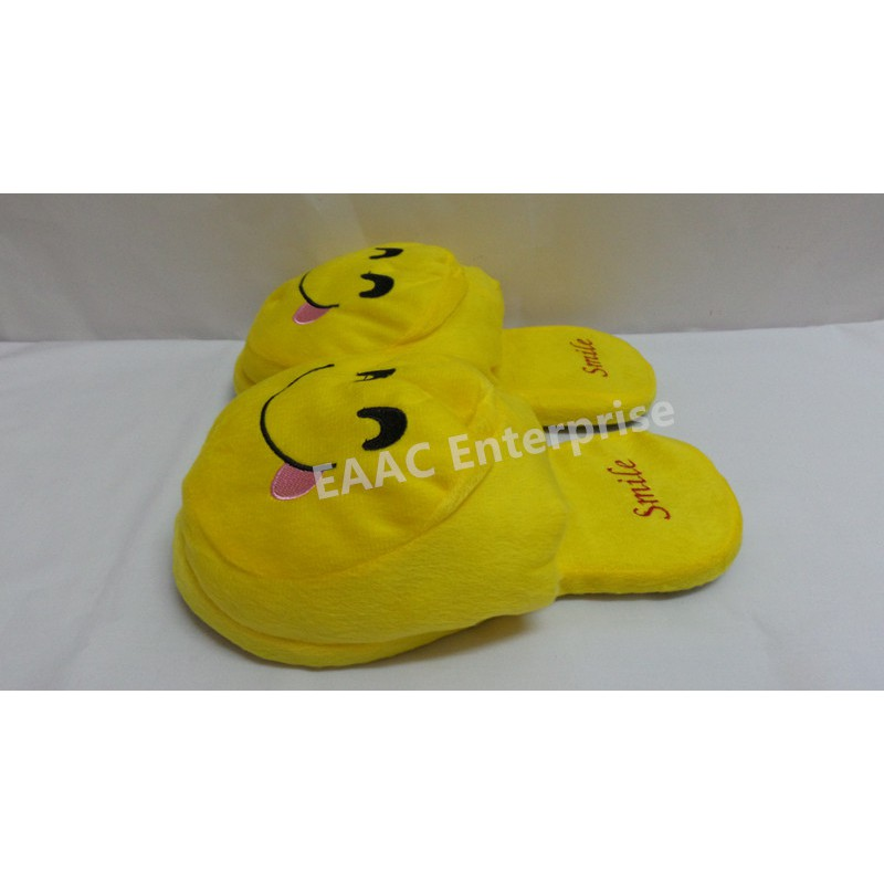 Indoor Smile 2 Cartoon Office Home Bedroom Slippers Sandals Shoes