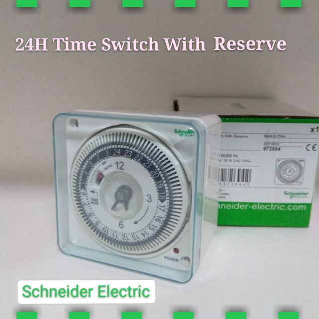 Schneider 24H Time Switch With Reserve CCT15101