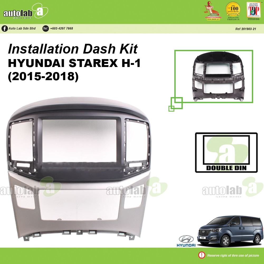 Player Casing Double Din Hyundai Starex H-1 (2015-2018)