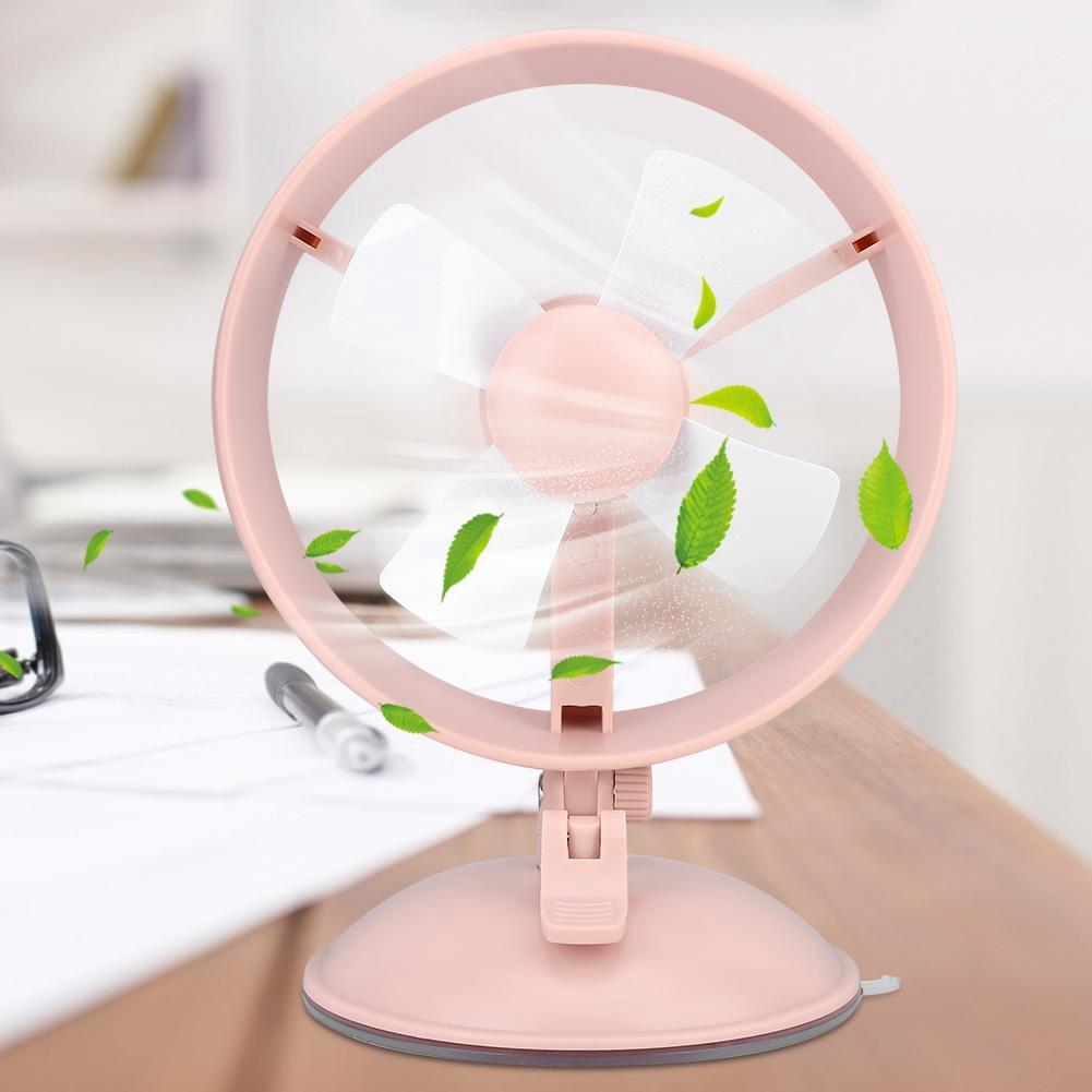 1Pc Portable Mini Handheld Cooling Fan USB Rechargeable Desktop Adjustable Wind Speeds Fans Alinory USB Fan