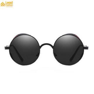 Classic half frame polarized semi-borderless sunglasses retro metal female men driving (96)