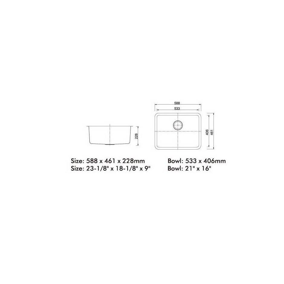 Single Bowl Stainless Steel Sink C/W Waste NKS-981