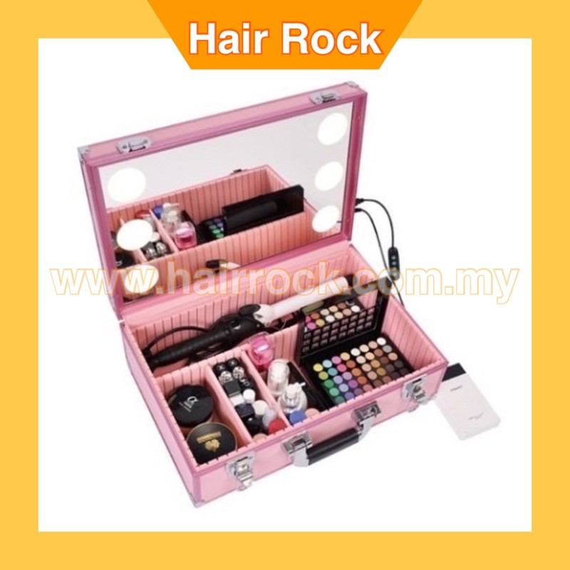 Professional Makeup Case with Built in LED lights and Mirror