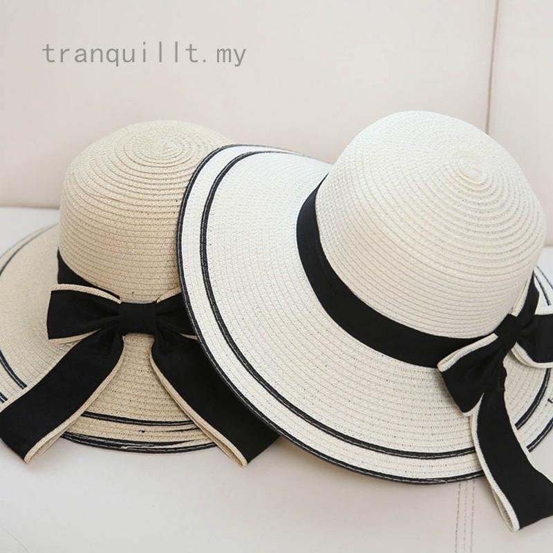 Beach Sunscreen Straw Hat Folding Beach Hat Female Big Cap Sunhat Beach Vacation