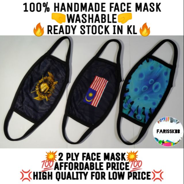 💥READY STOCK💥 HANDMADE 2 PLY FACE MASK HIGH QUALITY MICROFIBER CLOTH FACE MASK ADULT KIDS FACE MASK LOW PRICE MASK