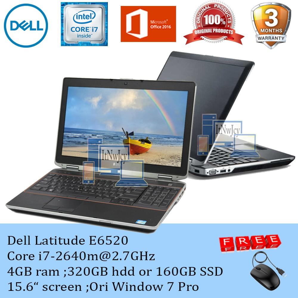 Refurbished Dell Latitude E6520 Core i7-2620m