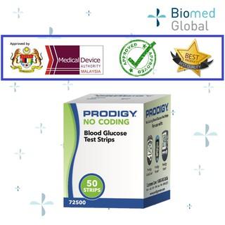 Prodigy Blood Glucose Test Strip, 50 strips/Box