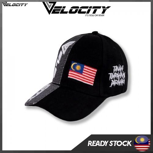 [READY STOCK] Velocity Velocool Malaysia Cap Black White