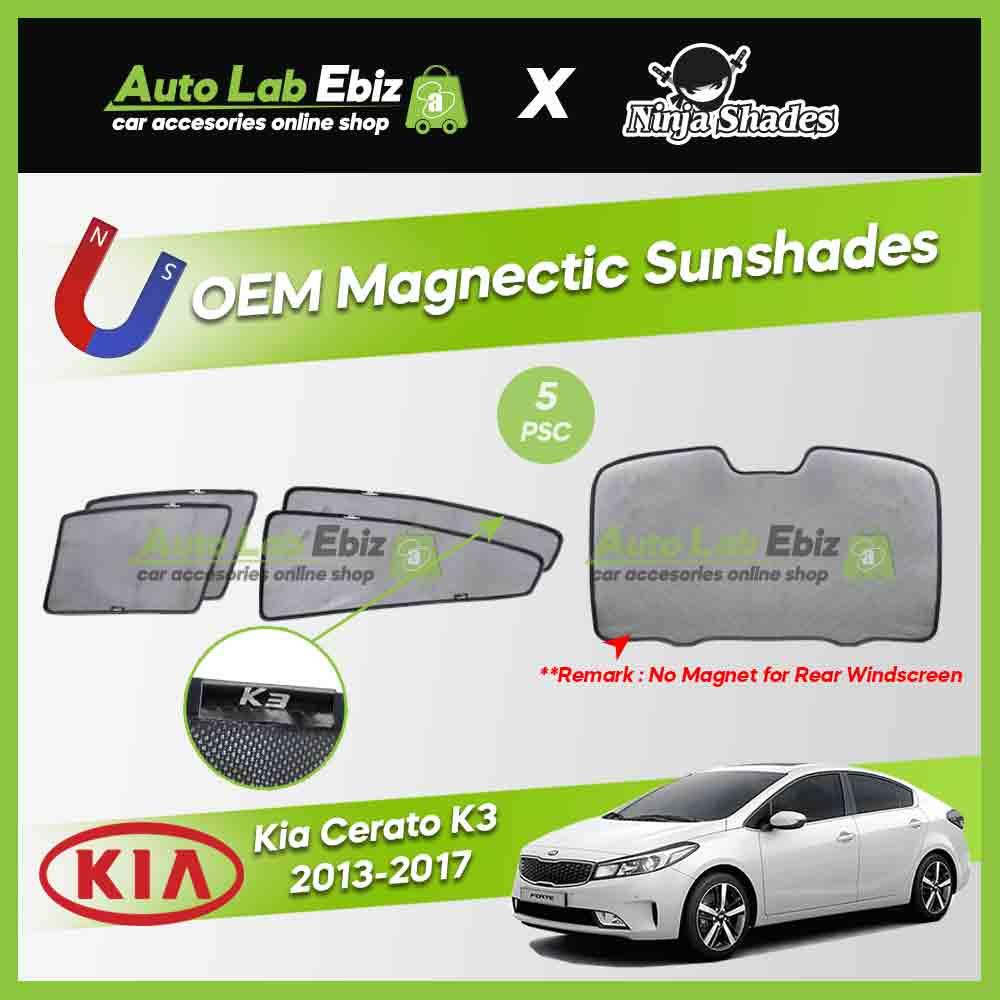 Kia Cerato K3 2013-2017 Ninja Shades OEM Magnetic Sunshades Foldable (5pcs/set)