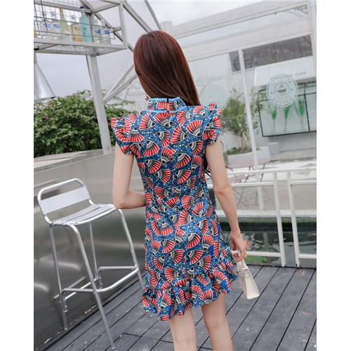 Cheongsam/Qipao/Evening Dress/Dinner/Short Sexy Fish Tail Dress/Elegant 短款旗袍连衣裙