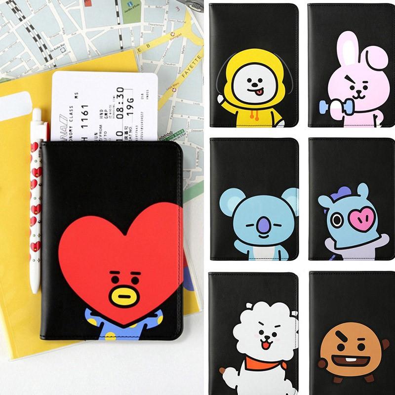 KPOP BTS BT21 Album Colorful Wallets Long PU Bag Package Purse Unisex Bags Gifts