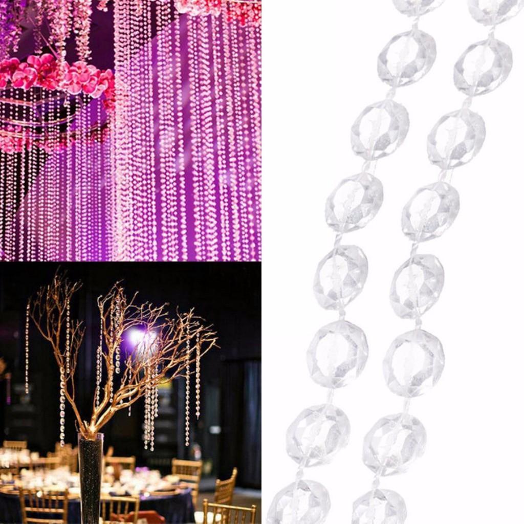Crystal Diamond Cut Acrylic Jewel Beaded Curtain Garlands NIB