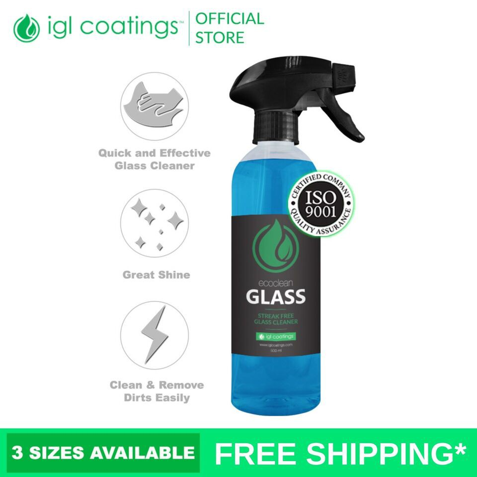 IGL Coatings Ecoclean Glass Window Glass Cleaner Spray Dirts Stains Quick Remover (100ml)