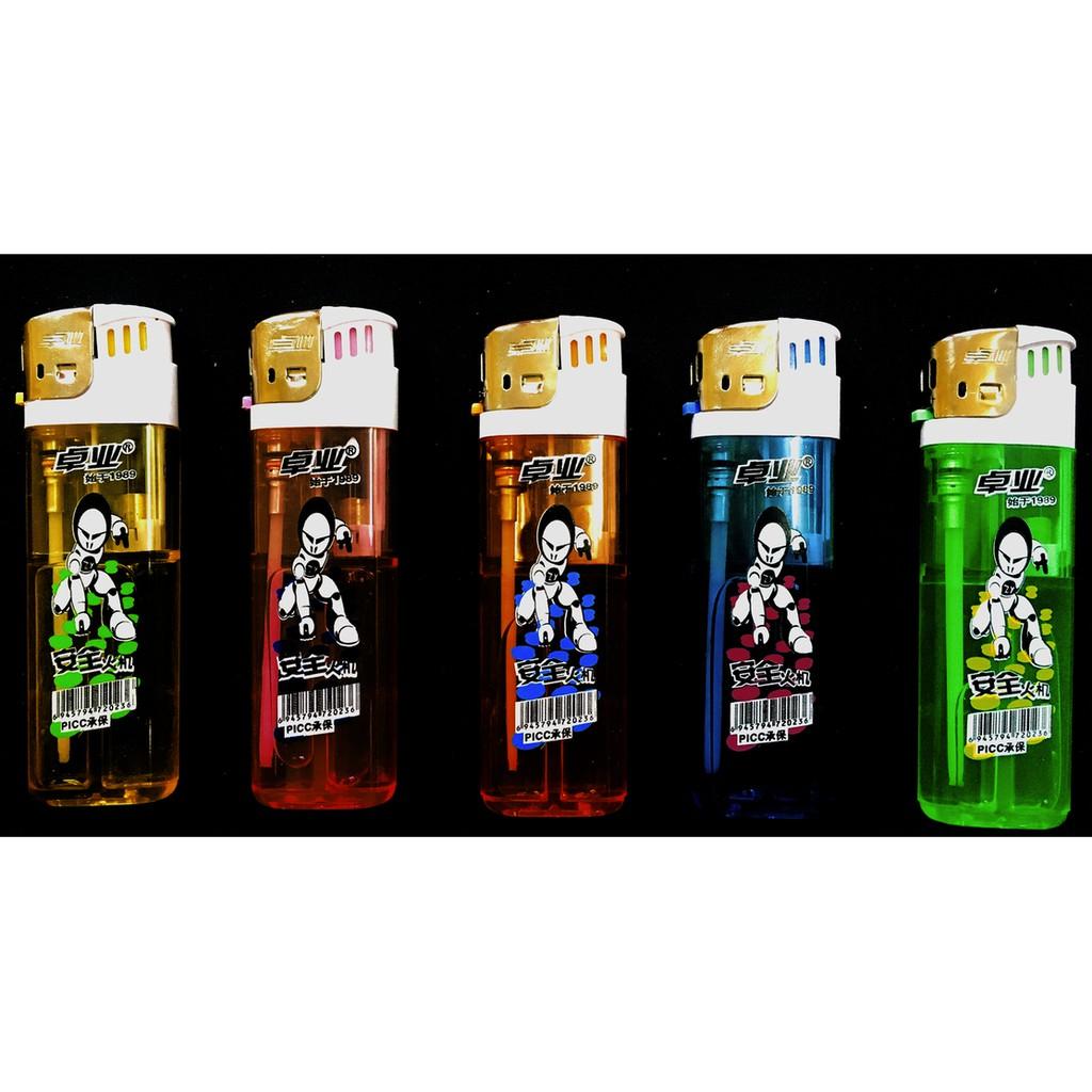 ZHOU YE Lighter Electronic Colorful Transparent Design Disposable Gas Lighter 1pcshuo ehu