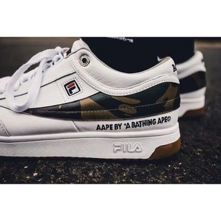 6d802fc3a30c New 2018 Ready Stock AAPE by A Bathing Ape x Fila T-1 Mid Classic ...