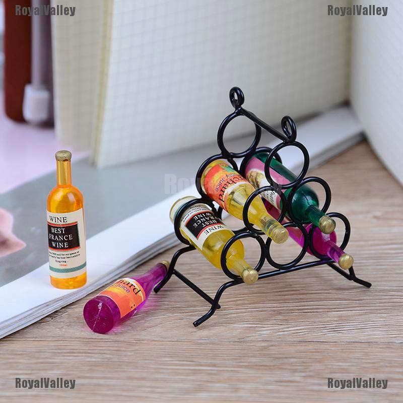 6pcs Dollhouse Resin Wine Cups Miniature Round Wine Cup Mini Cup Model For Doll