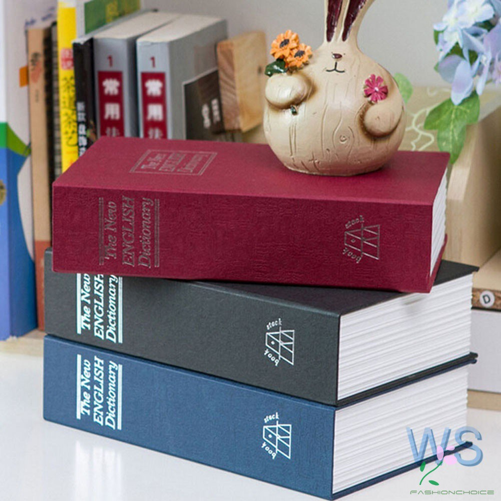 Dictionary Dictionary Book Safe Diversion Secret Hidden Security Stash  Booksafe Lock & Key WS5HG-22