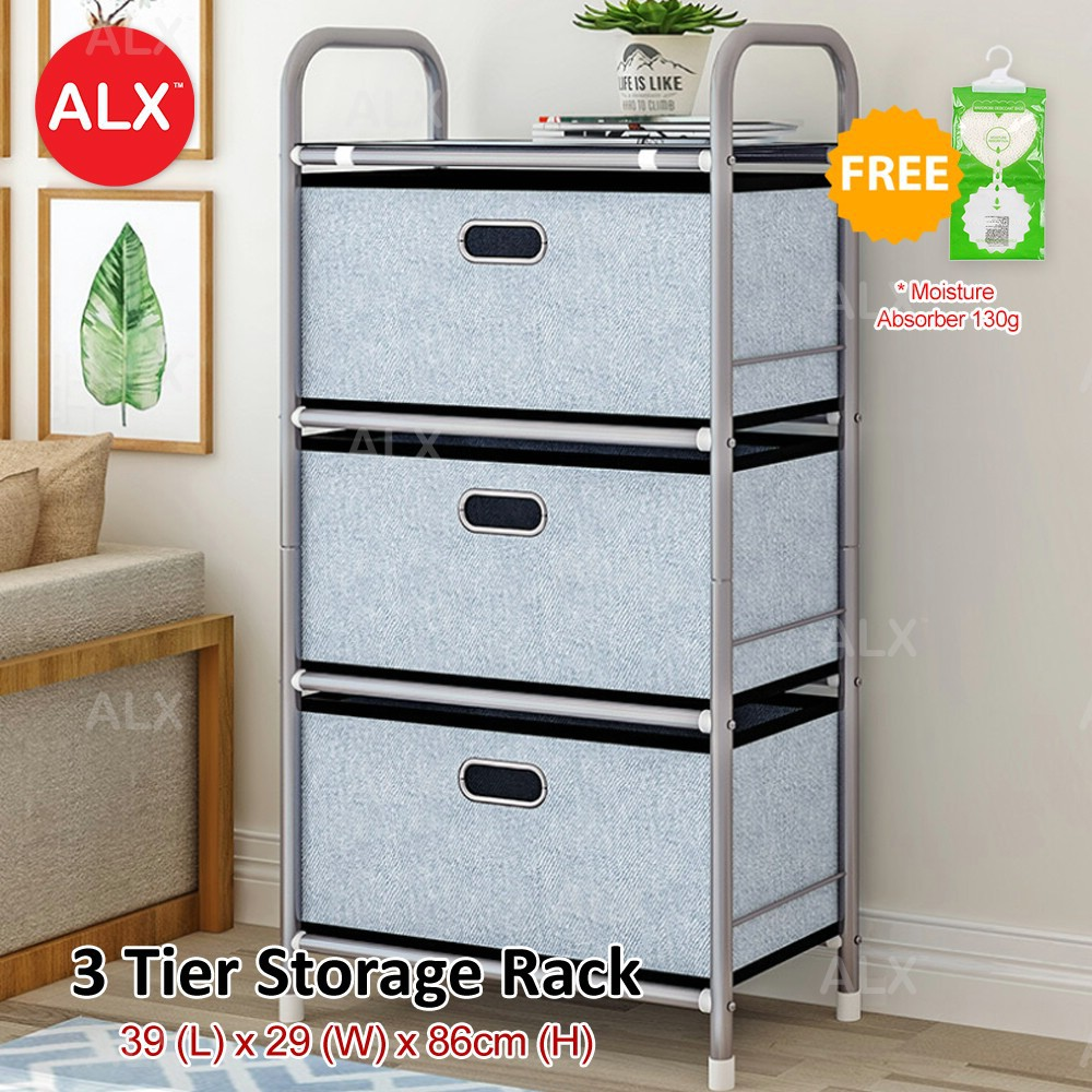 ALX 3 Tier High Quality Home Office Bedroom Drawer Storage