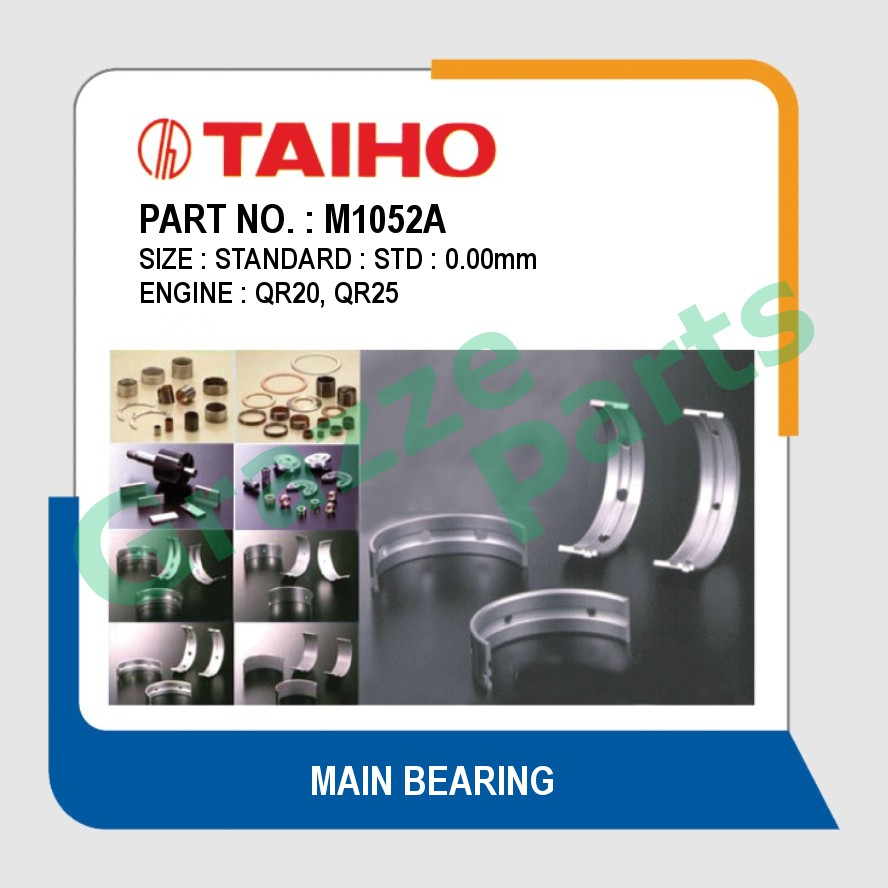 Taiho Main Bearing STD Size M1052A for Nissan X-Trail Murano Z50 QR20 QR25