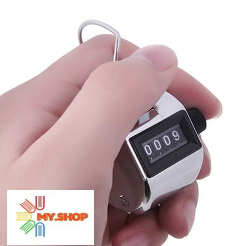 Hand Held Tally Counter 4 Digit Number Mechanical Manual Counting Timer Finger Clicker Golf Counter Palm