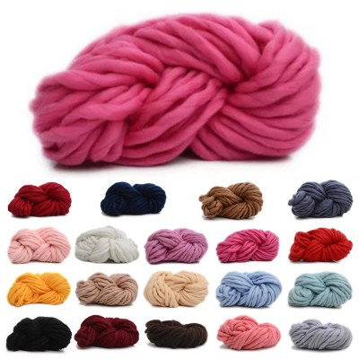 New Chunky Wool Yarn Super Soft Bulky Arm Knitting Wool Roving Crocheting DIY