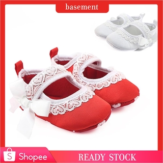 84f000849af 0-18M🍒Toddler Baby Bow Lace Girls Crib Shoes Soft Sole Sneakers ...