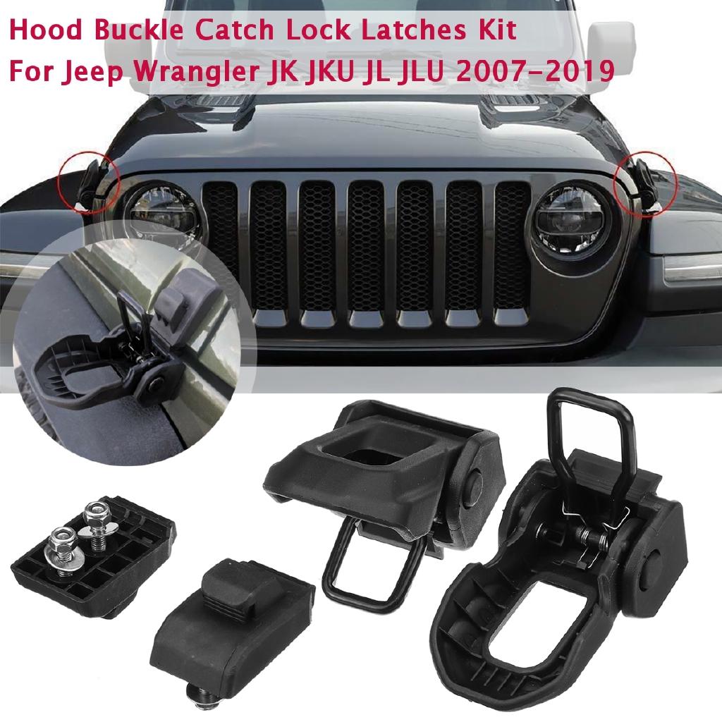 For Jeep JL Hood Latch Locking Hood Catch with Key for 2018 2019 Wrangler JL JLU