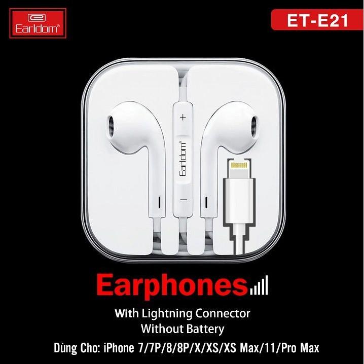 EARLDOM ET-E21 POPUP WINDOW LIGHTNING EARPHONE