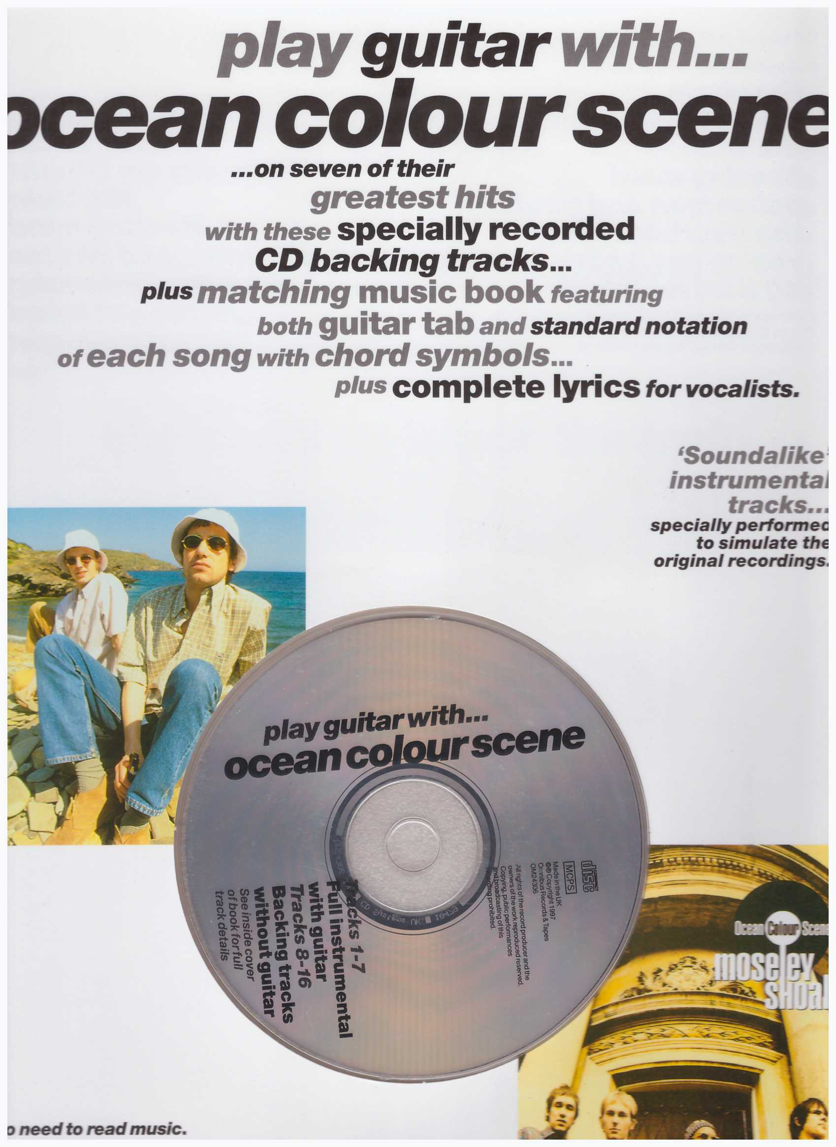 Play Guitar With...Ocean Colour Scene / Vocal Book / Voice Book / Guitar Book / Gitar Book / Tab Book / Guitar Tab Book