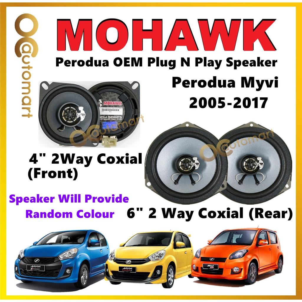 MOHAWK Plug & Play Front & Rear OEM Speaker For Perodua Myvi 2005/Myvi Lagi Best/Myvi Icon
