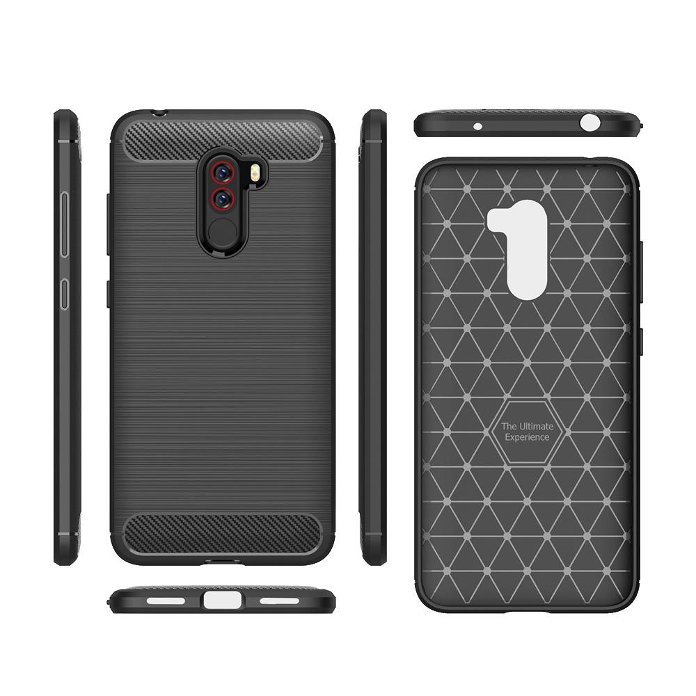 reputable site 4927b 7c9bc Applicable To Xiaomi PocoPhone F1 Carbon Fiber Phone Case