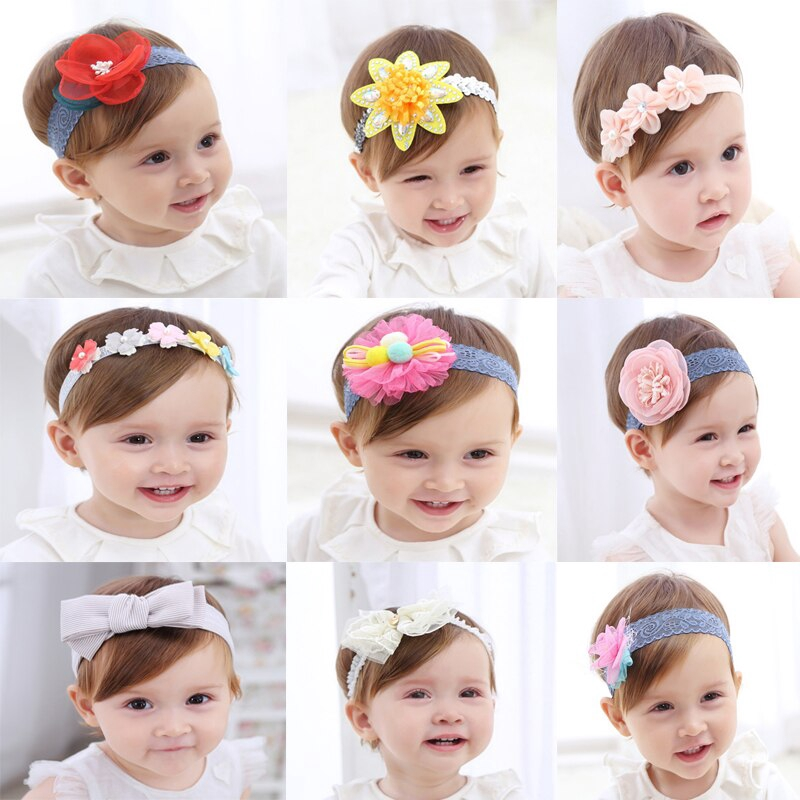 1 Pc Big Bow Flower Hair Banded Headband Newborn Photo Accessories Headwear