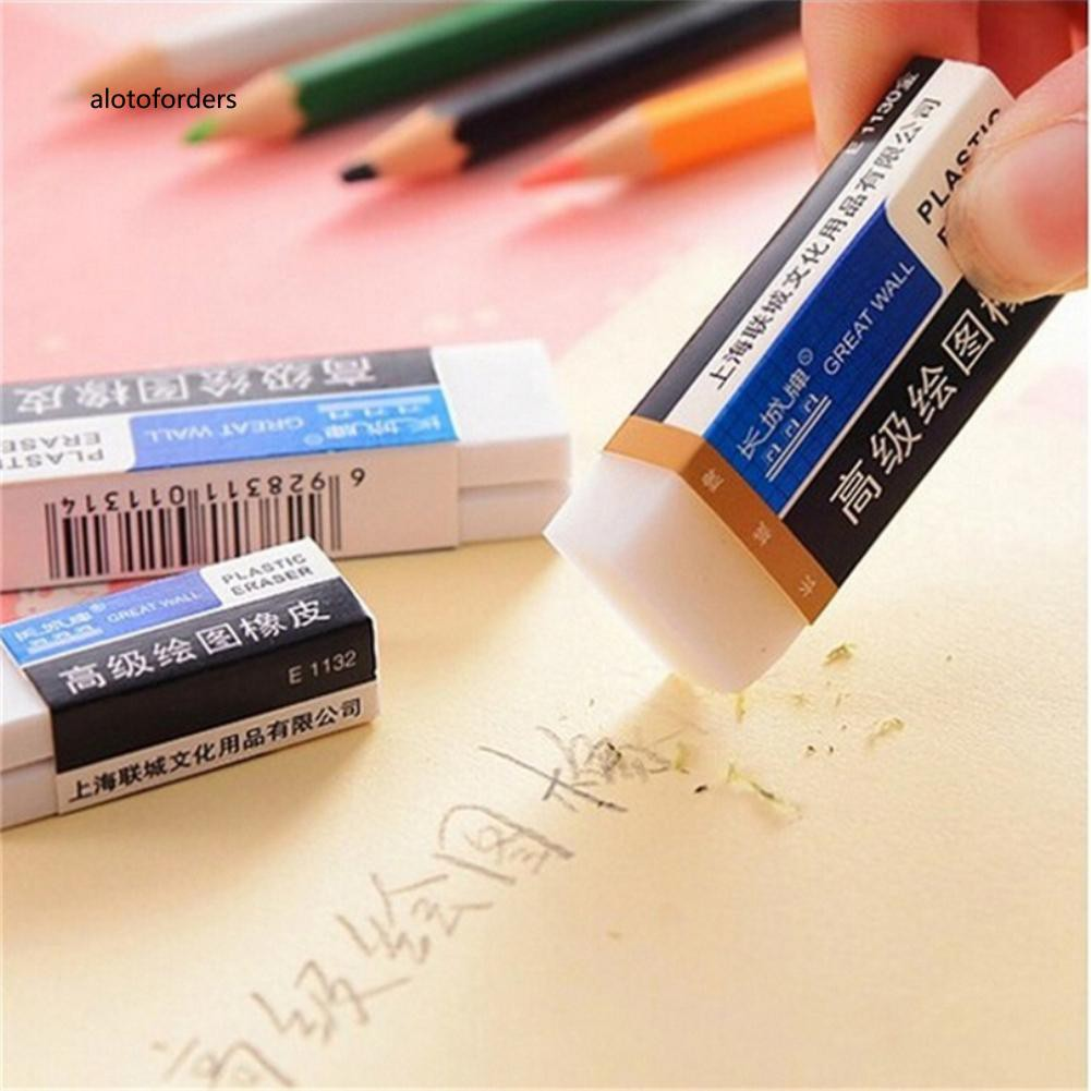 AFOD_10Pcs Rectangle Pencil Writing Corrector Rubber Eraser Tool Stationery Supplies