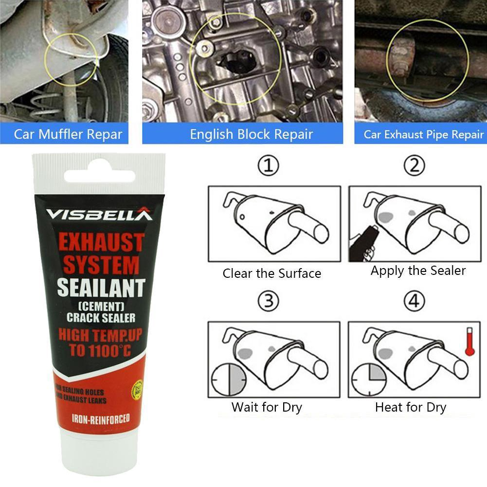Exhaust 1x Pipe System Kit Repair Temperature High 1100c To Crack Cement  Sealant