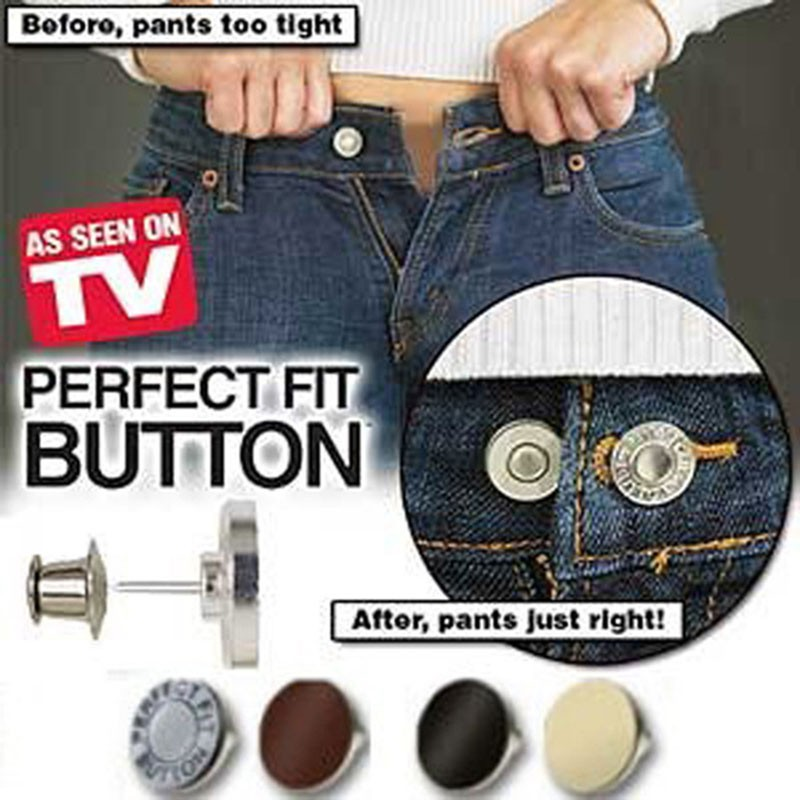 Adjustable Jeans Button Instant 1 Set Perfect Fit Instant Button 1 inch Buttons Adds Or Reduces an Inch to Any Pants Waist in Seconds