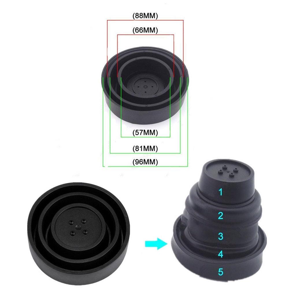 2Pcs Universal Seal Cap Dust Cover 5 Sizes for Car Headlight LED HID Lamp Kit