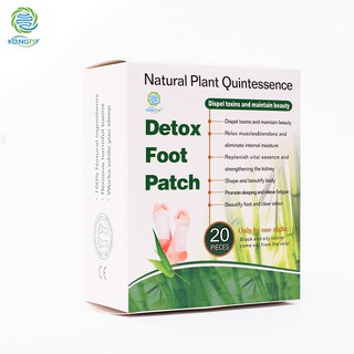 Feet Care Bamboo Vinegar Detox Foot Pads Detox Foot Patch 20 pieces/box | Shopee Malaysia