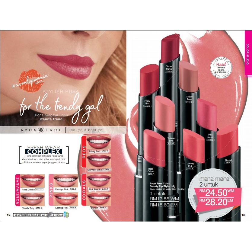 Avon True Perfectly Delicate Matte Shopee Malaysia