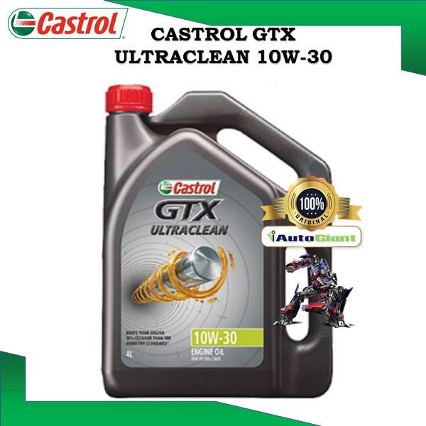Castrol GTX ULTRACLEAN 10W-30 SN/CF for Petrol and Diesel Vehicles (4L) (100% ORIGINAL)