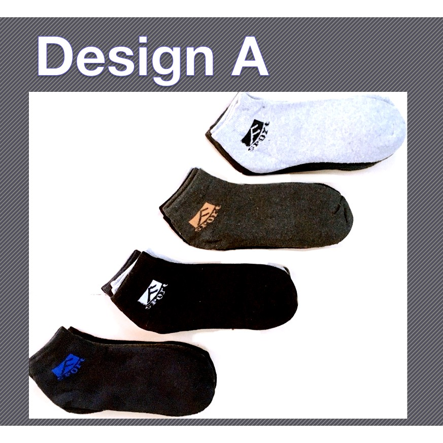 Sports Short Thick Comfortable Casual Unisex Cotton Low Cut Socks Sport Word Design