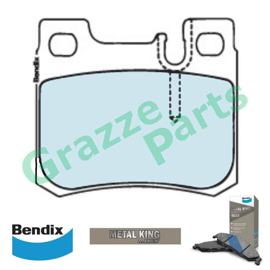 Bendix Metal King Titanium Disc Brake Pad Rear for DB1296 Mercedes Benz W202 C-Class C180 C200 C220 C230 C250 C280