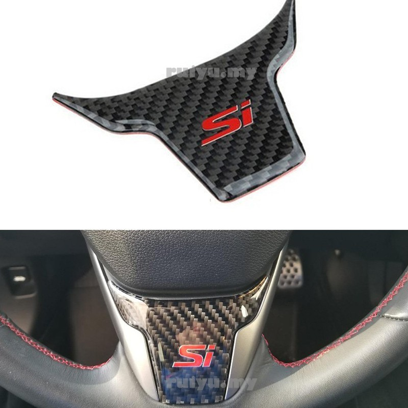 2PCS Red Car Seat Safety Belt Buckle Cap Cover Trim For Honda CIVIC 2016-2018