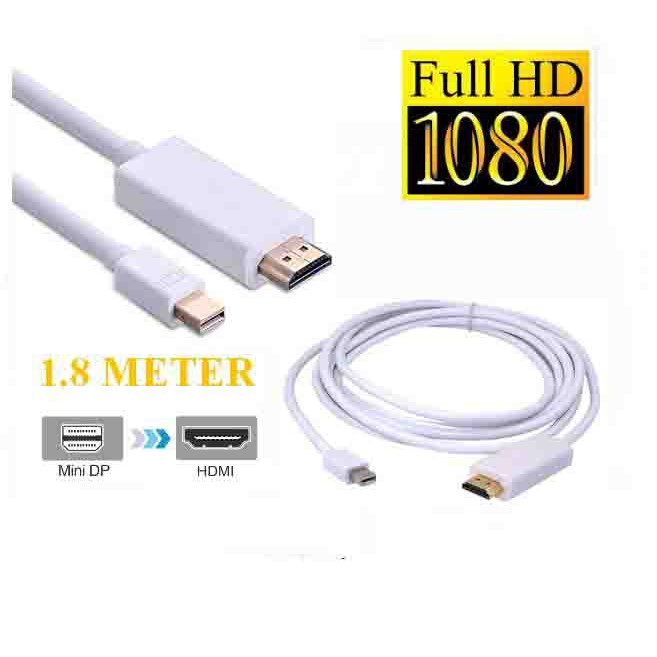 1.8M//3M Display Port Thunderbolt to HDMI TV Cable Adapter For MacBook Pro iMac
