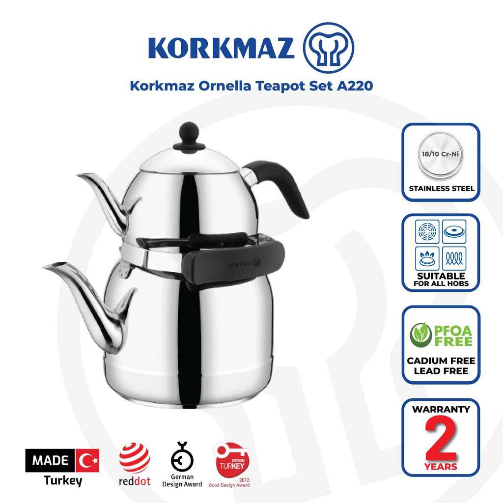 Korkmaz Ornella Teapot Set A220
