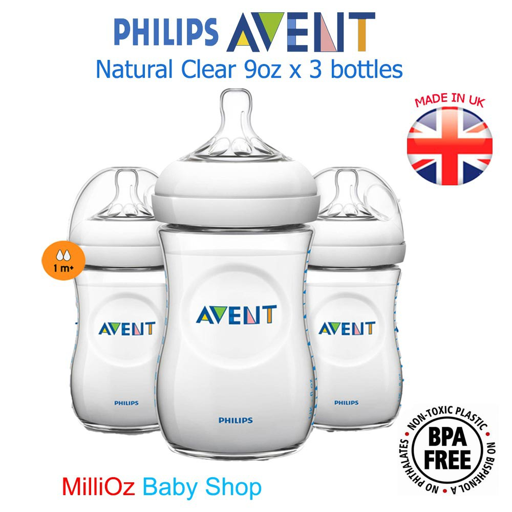 MADE IN UK Philips Avent Natural BPA Free 4oz x 2 bottles ( ORIGINAL AVENT) | Shopee Malaysia